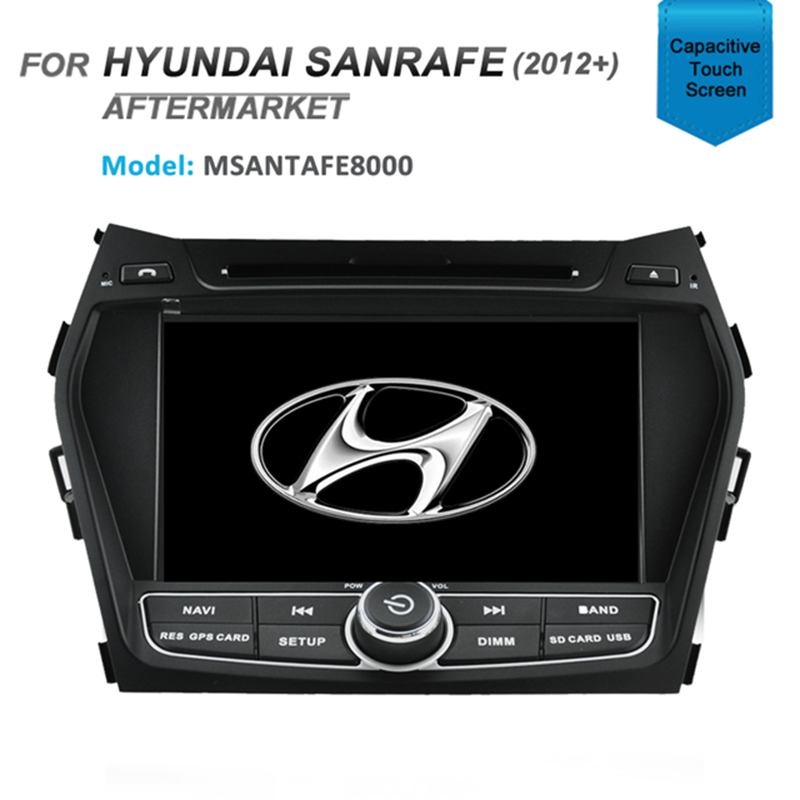 "8"" AFTERMARKET GPS DVD SAT NAV IPOD BLUETOOTH USB SD FOR HYUNDAI SANTAFE 2012+"