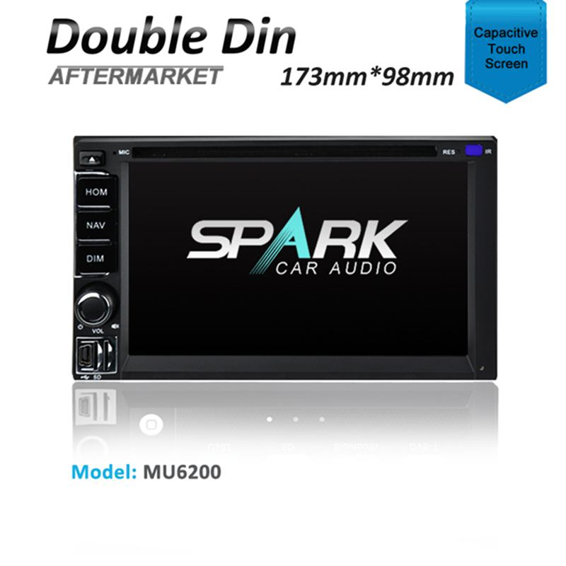2-DIN DOUBLE DIN SAT NAV GPS DVD IPOD BLUETOOTH USB NAVIGATION