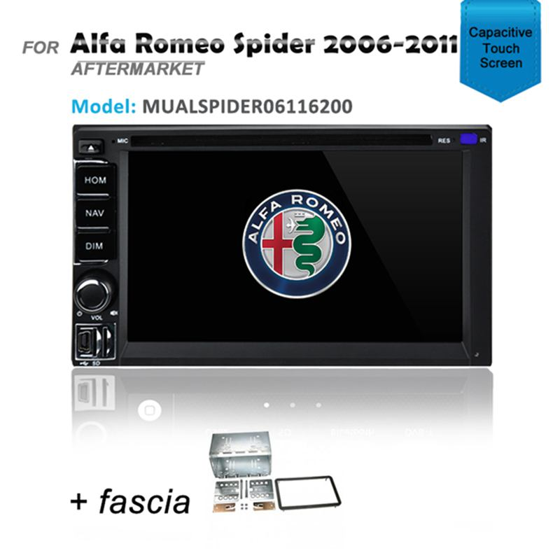 CARPLAYER ANDROID AUTO GPS DVD IPOD SAT NAV BT FOR ALFA ROMEO SPIDER 2006-2011