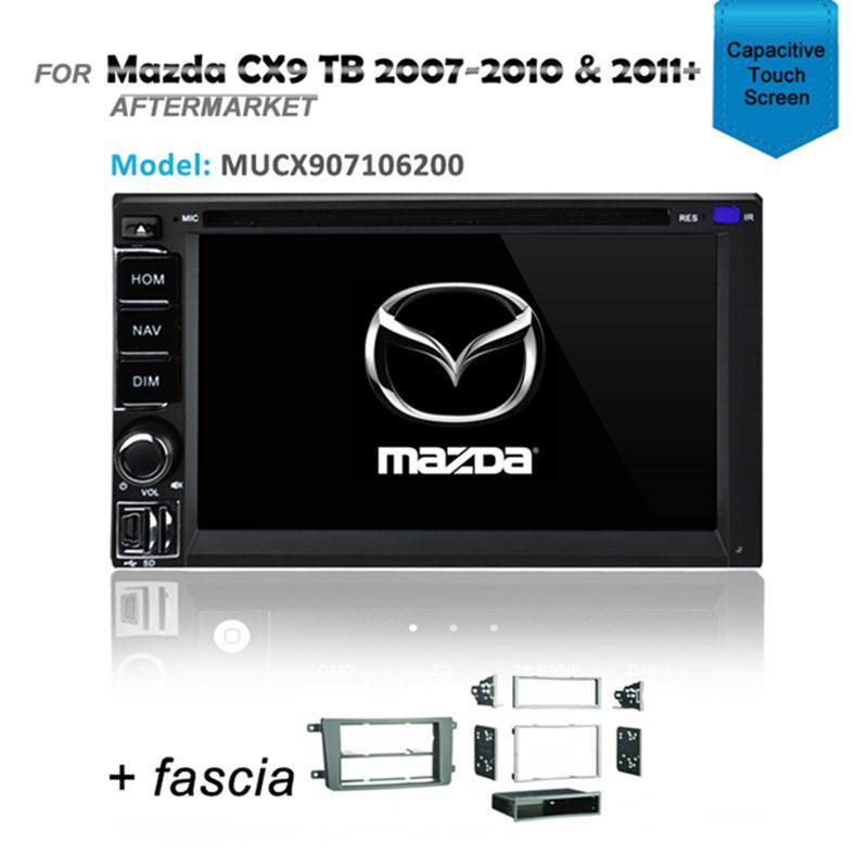 CARPLAYER ANDROID AUTO GPS DVD SAT NAV IPOD BT FOR MAZDA CX9 CX-9 2007+