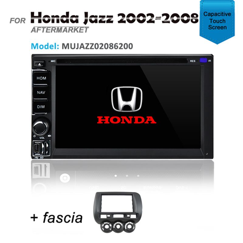 GPS DVD SAT NAV IPOD BLUETOOTH STEREO FOR HONDA JAZZ 2002-2008