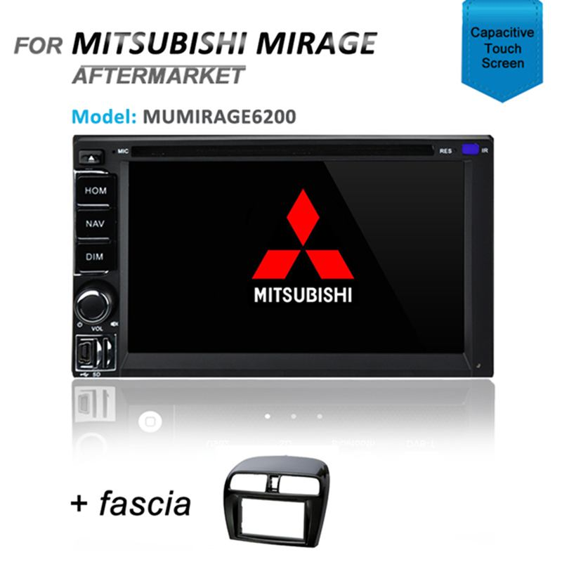 CARPLAYER / ANDROID AUTO GPS DVD SAT NAV IPOD BT FOR MITSUBISHI MIRAGE 2012+
