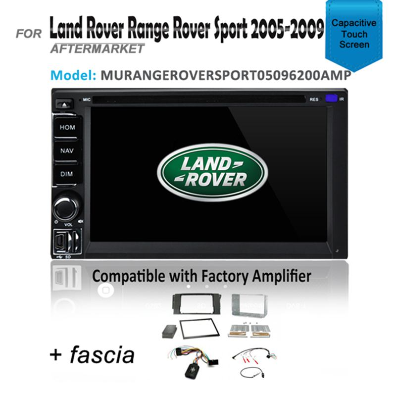 CARPLAYER ANDROID AUTO GPS DVD SAT NAV BT FOR LAND ROVER RANGE ROVER 2005-2009 AMP