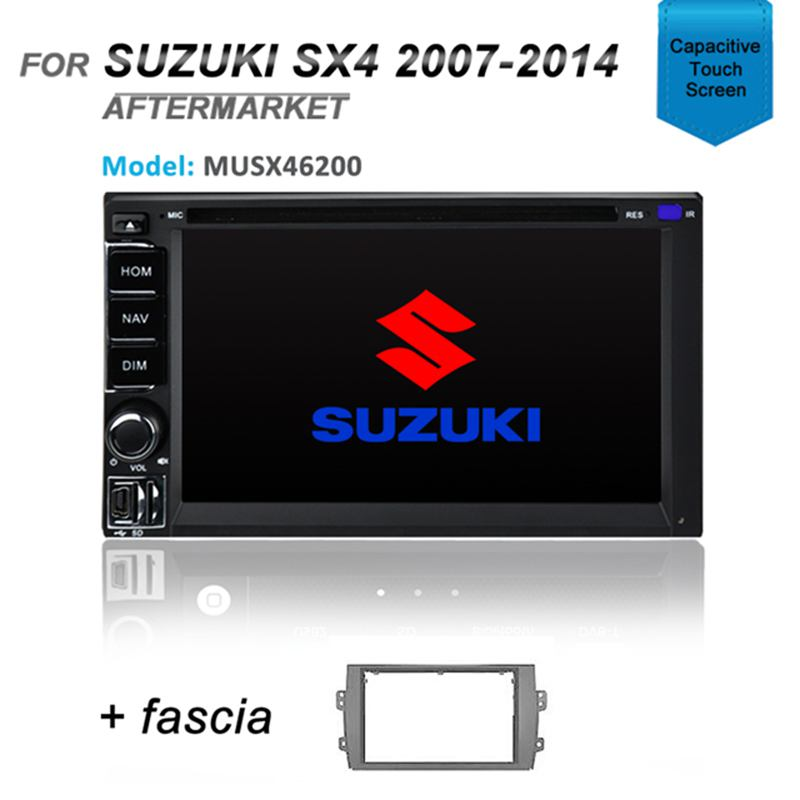 CARPLAYER ANDROID AUTO GPS DVD Sat Nav Bluetooth For SUZUKI SX4 SX-4 2007-2014