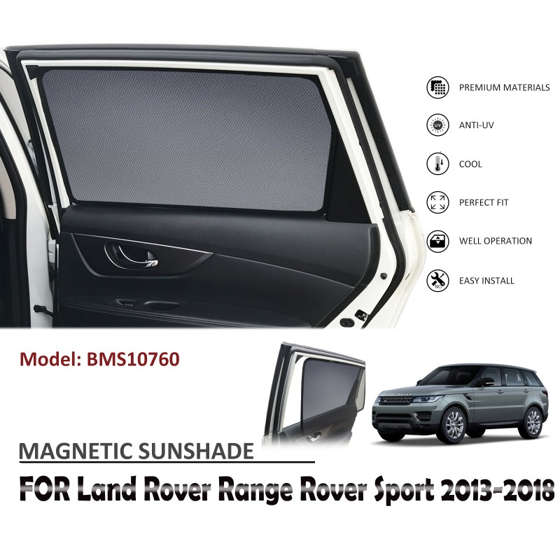 MAGNETIC CAR WINDOW SUN SHADE SUNSHADES BLIND FOR LAND ROVER RANGE ROVER SPORT 2013-2018 BMS10760