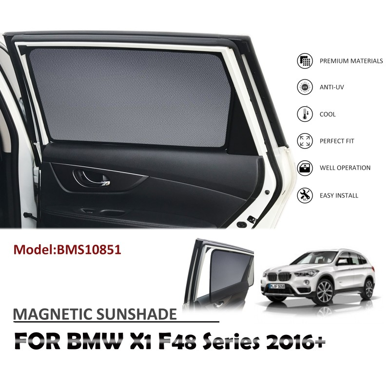 MAGNETIC CAR WINDOW SUN SHADE SUNSHADES BLIND MESH REAR DOOR FOR BMW X1 F48 2016+ BMS10851