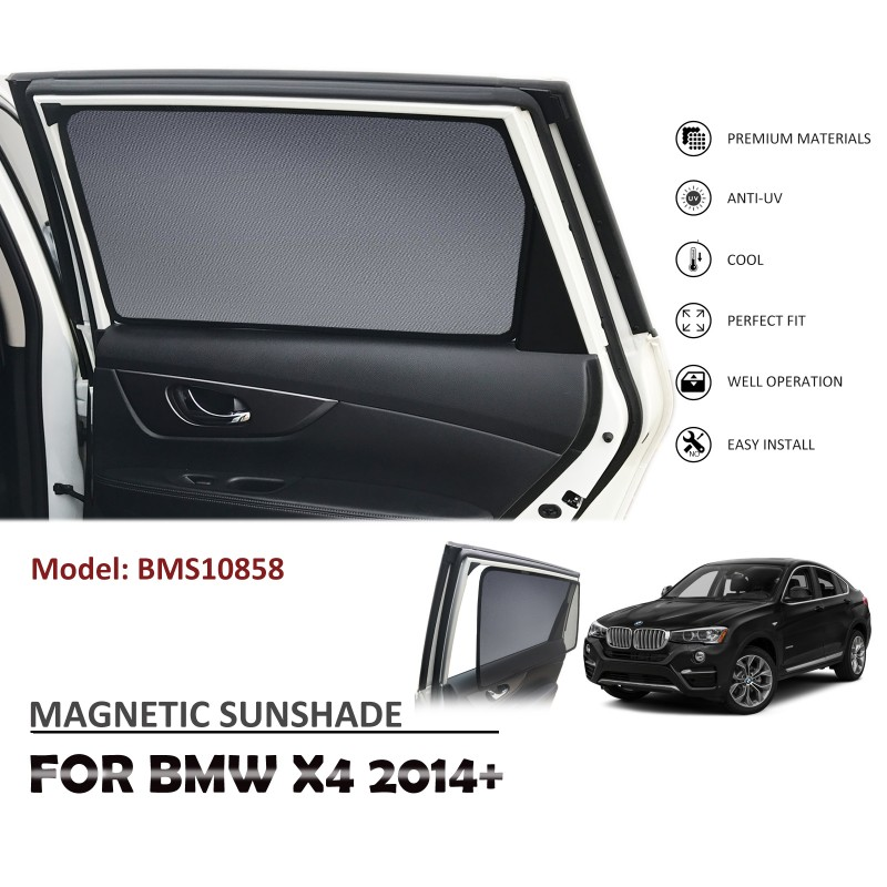 MAGNETIC CAR WINDOW SUN SHADE SUNSHADES BLIND MESH REAR DOOR FOR BMW X4 F26 2014+ BMS10858