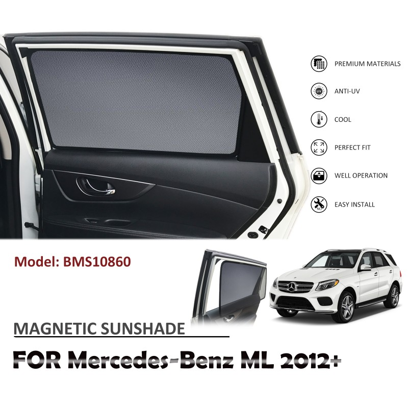MAGNETIC CAR WINDOW SUN SHADE SUNSHADES BLIND MESH REAR DOOR FOR MERCEDES BENZ ML 2012+ BMS10860