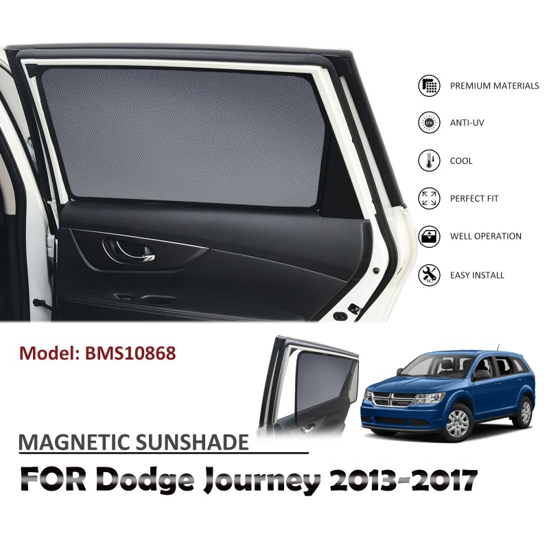 MAGNETIC CAR WINDOW SUN SHADE BLIND MESH REAR DOOR FOR DODGE JOURNEY 2013-2017 BMS10868