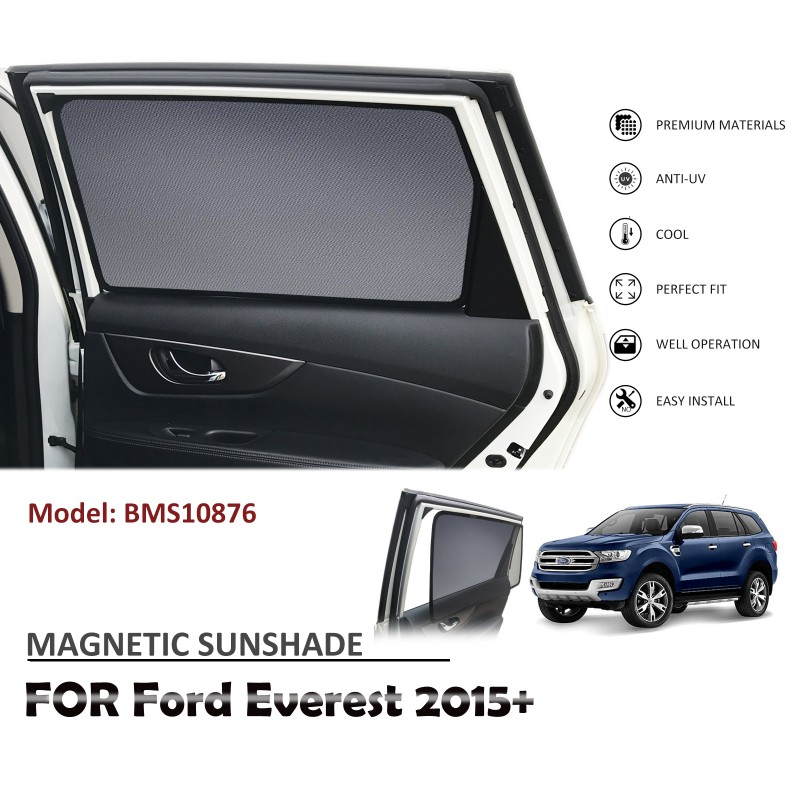 MAGNETIC CAR WINDOW SUN SHADE SUNSHADES BLIND MESH REAR DOOR FOR FORD EVEREST 2015+ BMS10876