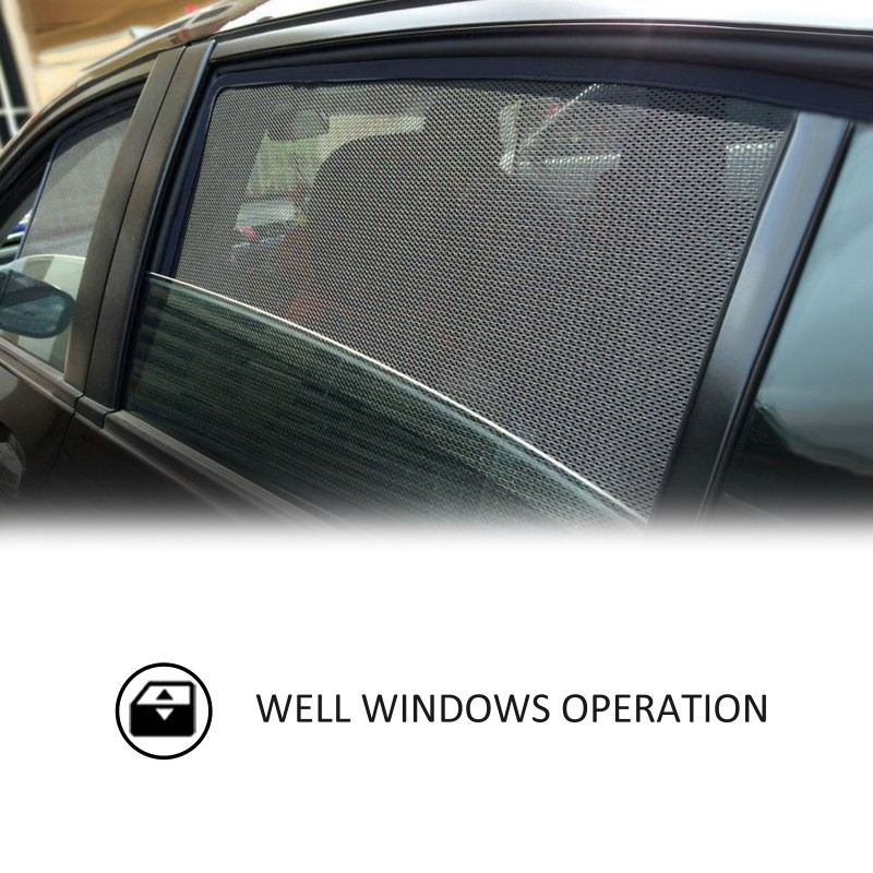 MAGNETIC CAR WINDOW SUN SHADE SUNSHADES BLIND MESH REAR DOOR FOR NISSAN QASHQAI 2014+ BMS10895