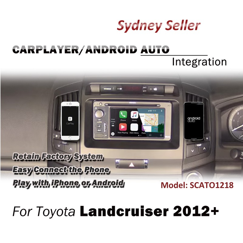 CARPLAYER / ANDROID AUTO INTEGRATION UPGRADE BLUETOOTH FOR TOYOTA LANDCRUISER 2012+