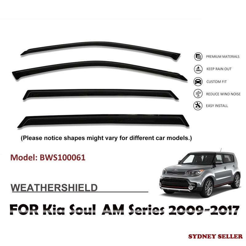 WEATHERSHIELD WINDOW VISOR WEATHER SHIELD FOR KIA SOULAM SERIES 2009-2017 BWS100061