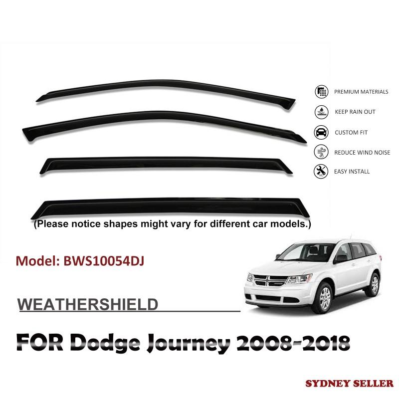 WEATHERSHIELD WINDOW VISOR WEATHER SHIELD FOR DODGE JOURNEY 2008-2018 BWS10054DJ