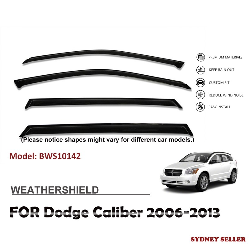 WEATHERSHIELD WINDOW VISOR WEATHER SHIELD FOR DODGE CALIBER 2006-2013 BWS10142