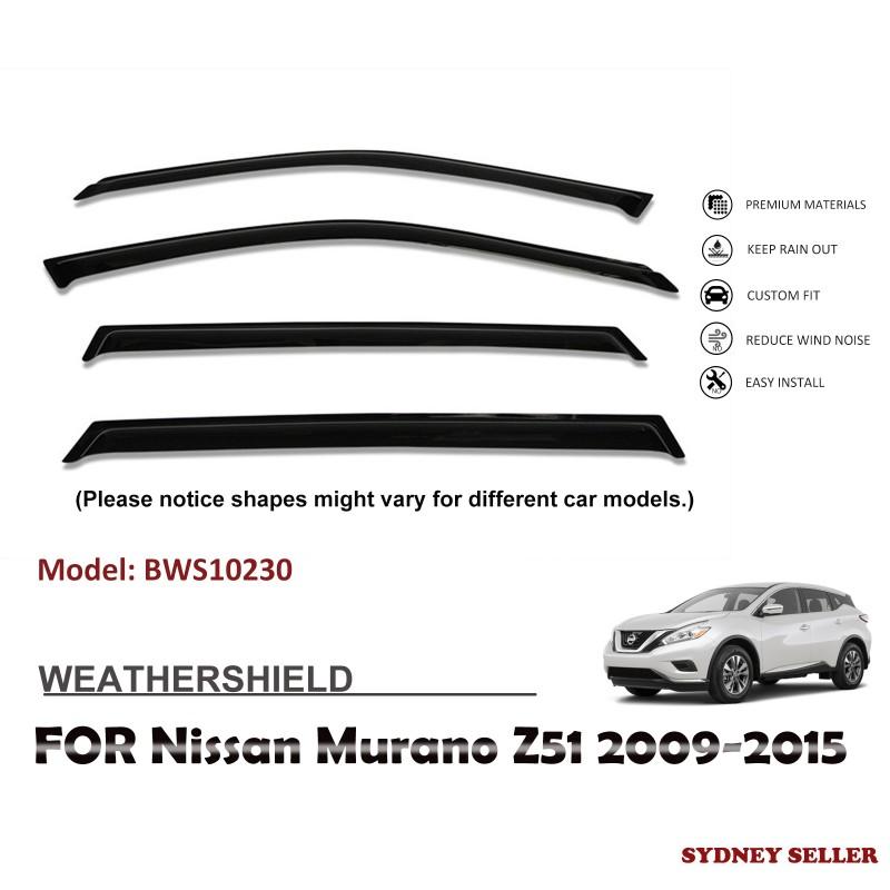 WEATHERSHIELD WINDOW VISOR WEATHER SHIELD FOR NISSAN MURANO Z51 2009-2015 BWS10230