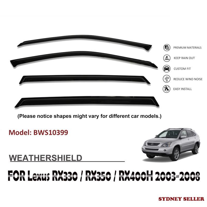 WEATHERSHIELD WINDOW VISOR SHIELD FOR LEXUS RX330 RX350 RX400H 2003-2008 BWS10399