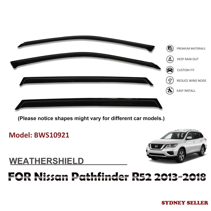 WEATHERSHIELD WINDOW VISOR SHIELD FOR NISSAN PATHFINDER R52 2013-2018 BWS10921