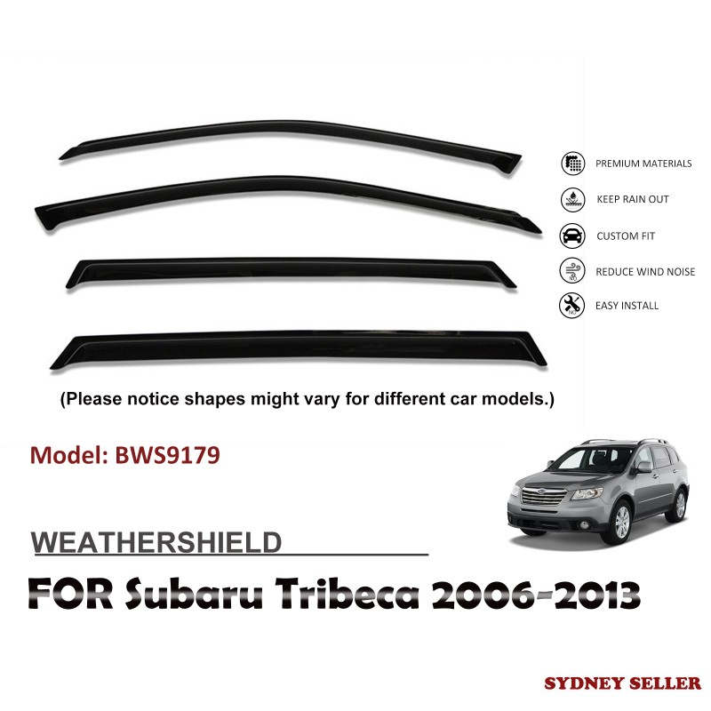 WEATHERSHIELD WINDOW VISOR WEATHER SHIELDS FOR SUBARU TRIBECA 2006-2013 BWS9179