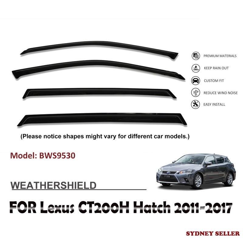WEATHERSHIELD WINDOW VISOR WEATHER SHIELD FOR LEXUS CT200H HATCH 2011-2017 BWS9530