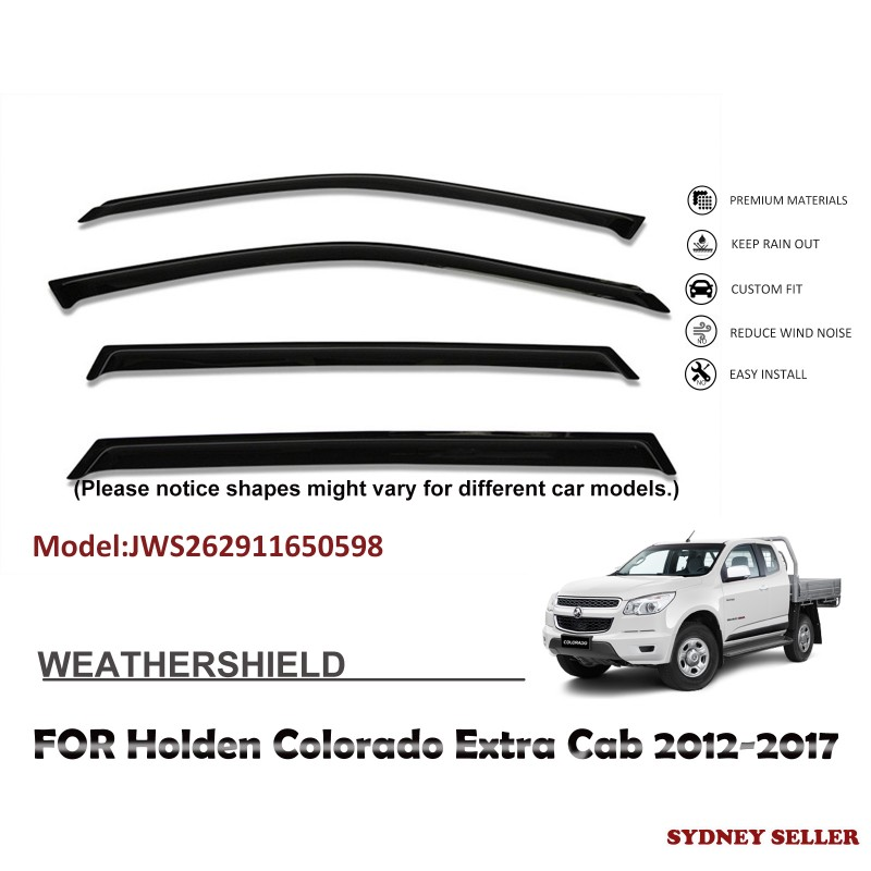 WEATHERSHIELD WINDOW VISOR WEATHER SHIELD FOR HOLDEN COLORADO Extra Cab 2012-2017