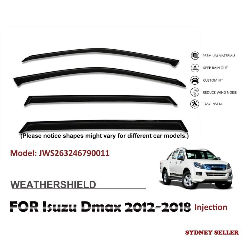 WEATHERSHIELD WINDOW VISOR WEATHER SHIELD FOR ISUZU DMAX D-MAX 2012-2018 JWS263246790011