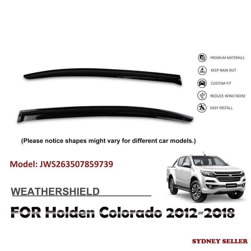 WEATHERSHIELD WINDOW VISOR WEATHER SHIELD FOR HOLDEN COLORADO 2012-2018 2pcs