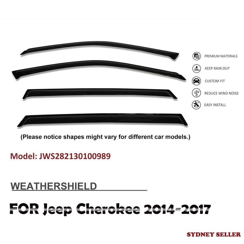 WEATHERSHIELD WINDOW VISOR WEATHER SHIELD FOR JEEP CHEROKEE 2014-2017 JWS282130100989