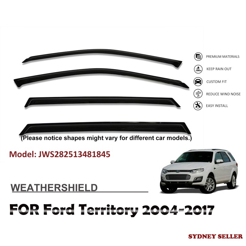 WEATHERSHIELD WINDOW VISOR WEATHER SHIELD FOR FORD TERRITORY 2004-2017 JWS282513481845
