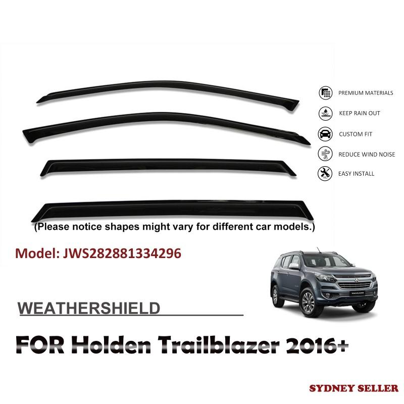 WEATHERSHIELD WINDOW VISOR WEATHER SHIELD FOR HOLDEN TRAILBLAZER 2016+ JWS282881334296
