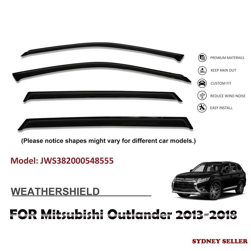 WEATHERSHIELD WINDOW VISOR WEATHER SHIELD FOR Mitsubishi Outlander 2013-2018 JWS382000548555